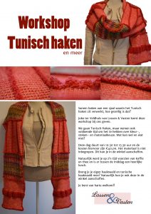 Workshop Tunischhaken met Joke ter Veldhuis