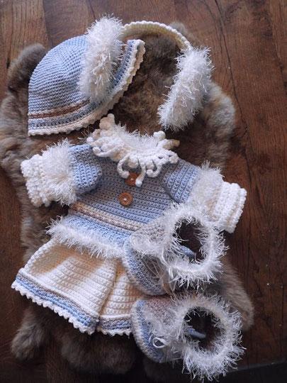 XXl funny Bunny kledingset Winterfun girl | garenhuisukeus.nl