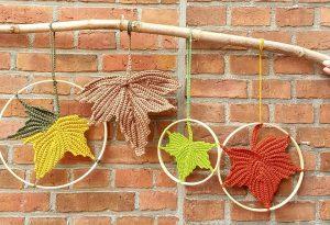 Workshop herfstbladeren haken | Garenhuis u keus