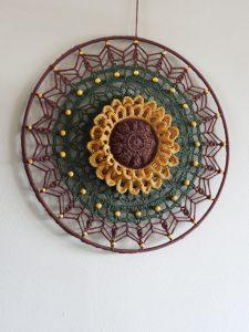 Funny Mandala Sunflower LARGE 40 cm