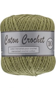 Lammy Yarns Coton Crochet 10 Army 382